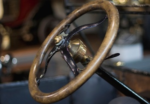Old fashion steering wheel